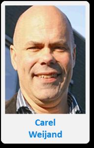 Pasfoto met naam Carel Weijand