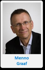 Pasfoto met naam Menno Graaf