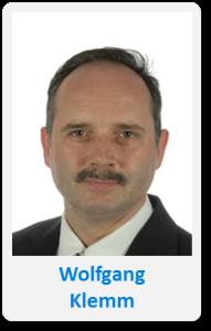 Pasfoto met naam Wolfgang Klemm